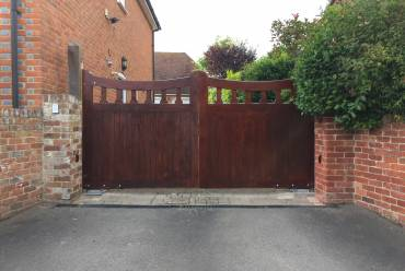 Automation added to existing wooden gates