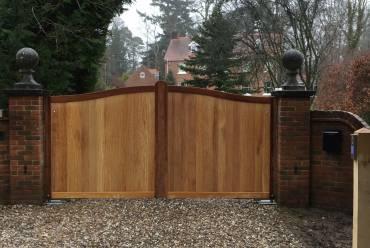 Solid hardwood gates