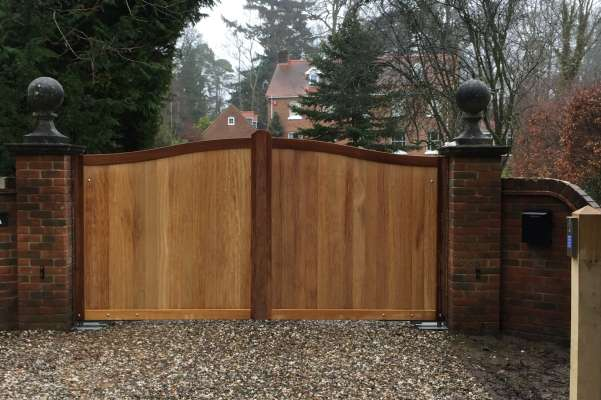 Solid hardwood gates