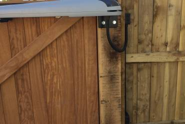 Wooden electric gate automation system