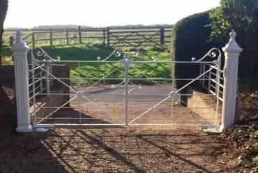 Wrought iron electric gates