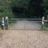 Metal cattle gate