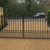 Metal electric gates
