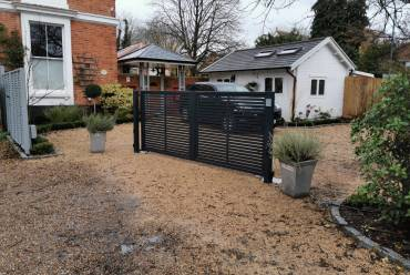 Contemporary metal electric gates