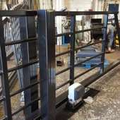 Commercial sliding metal gate fabriction
