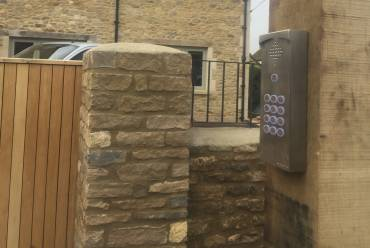Sliding gate intercom