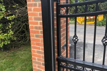 Sliding metal electric gate