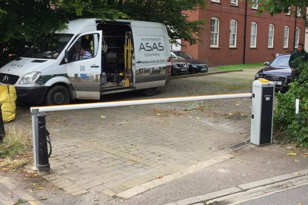 Access barrier for residential parking in Newbury