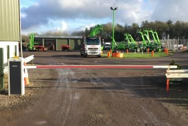 Forklift depot barrier
