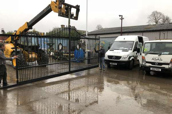 Metal gate conversion to electric gates
