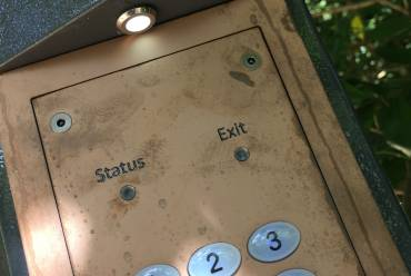Unpolished brass keypad