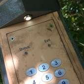 Unpolished brass keypad