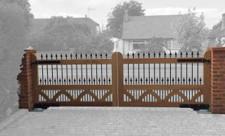 Wooden Electric Swing Gates