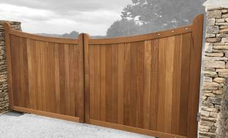 Hardwood and Softwood Electric Gates