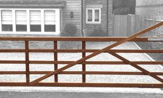Wooden Electric Five Bar Gates